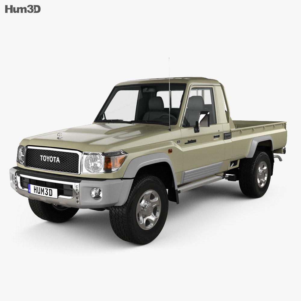 toyota land cruiser single cab pickup vxr 2007 3d model humster3d. Black Bedroom Furniture Sets. Home Design Ideas