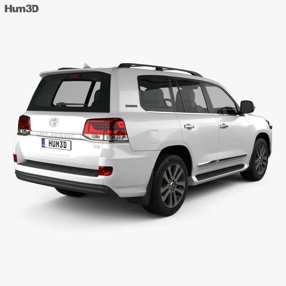 Toyota Land Cruiser Excalibur 2017 3d model
