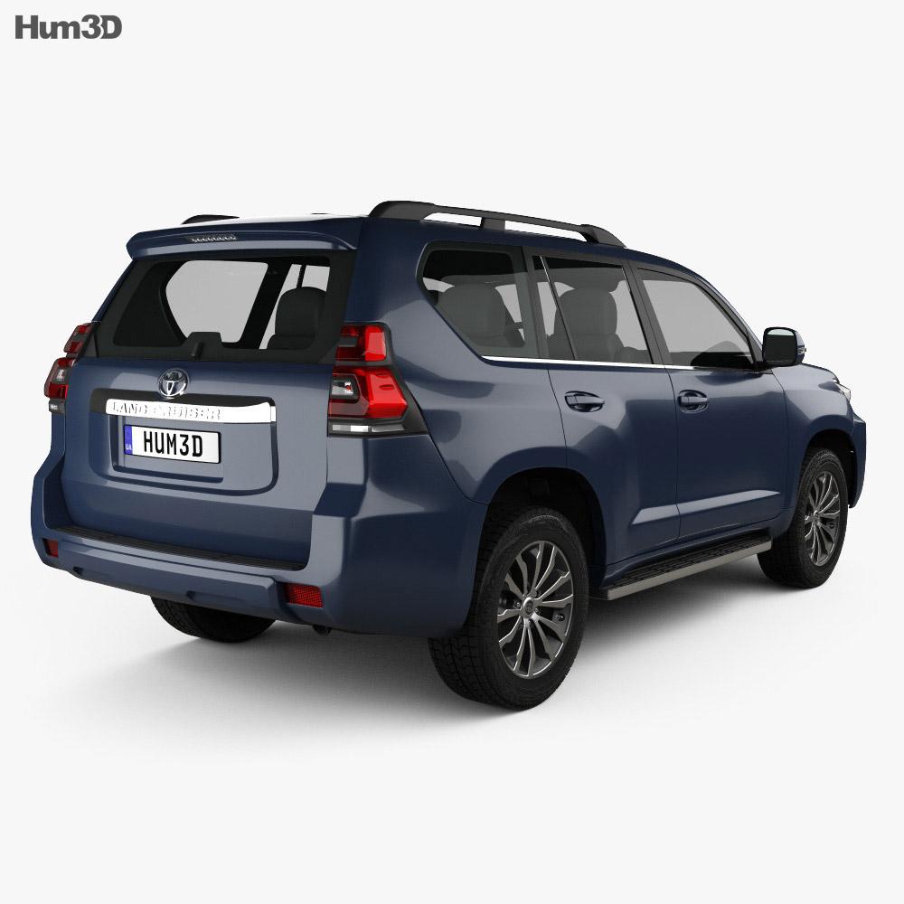 Toyota Land Cruiser Prado 5-door EU-spec 2018 3d model