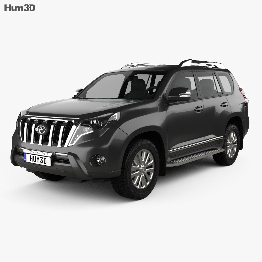 toyota land cruiser prado vxr 2016 3d model humster3d. Black Bedroom Furniture Sets. Home Design Ideas