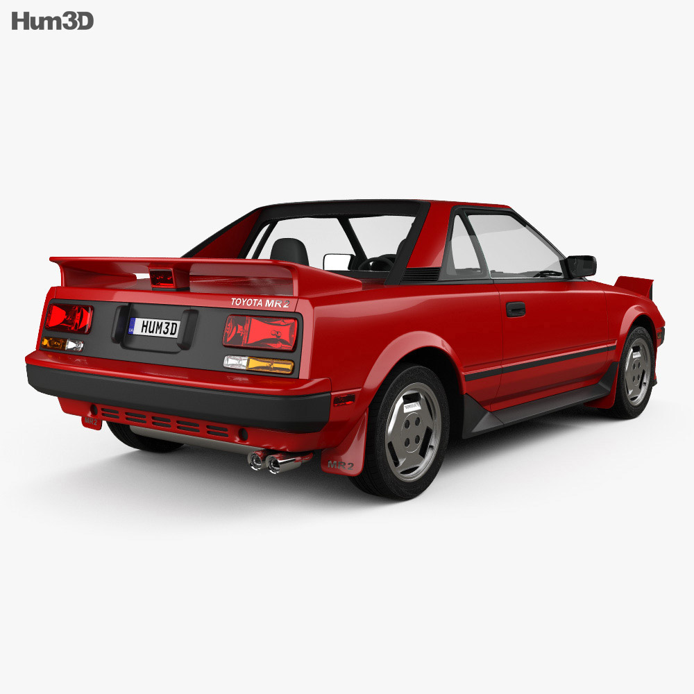 Toyota MR2 1984 3d model