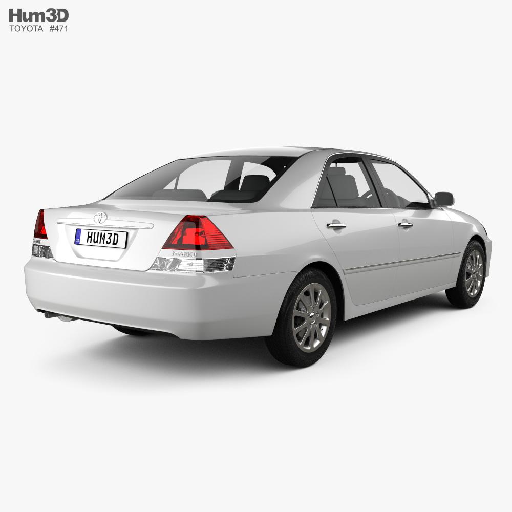 Toyota Mark II 2002 3d model