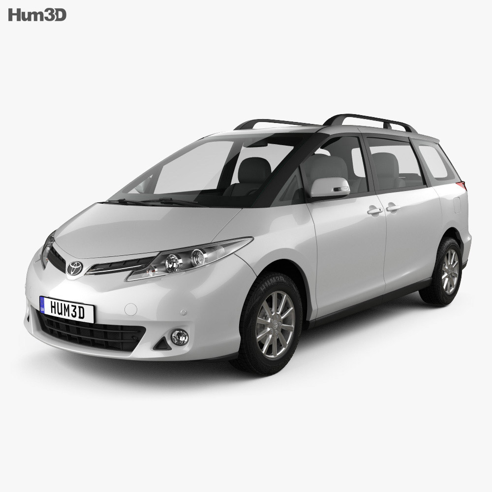 Toyota Previa SE 2016 3d model