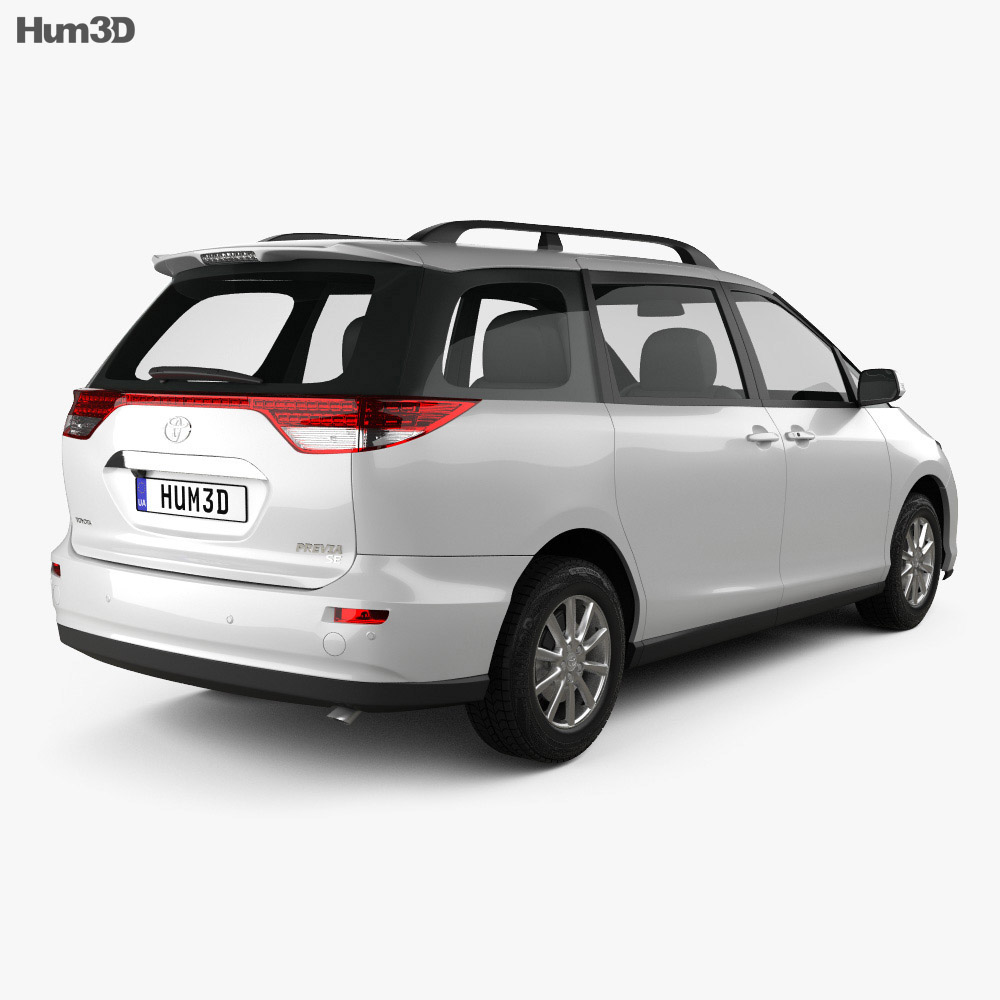 toyota previa se 2016 3d model humster3d. Black Bedroom Furniture Sets. Home Design Ideas