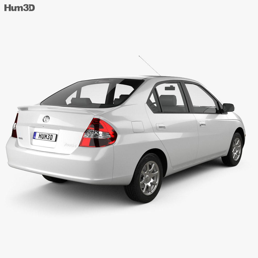 toyota prius 2000 3d model vehicles on hum3d. Black Bedroom Furniture Sets. Home Design Ideas