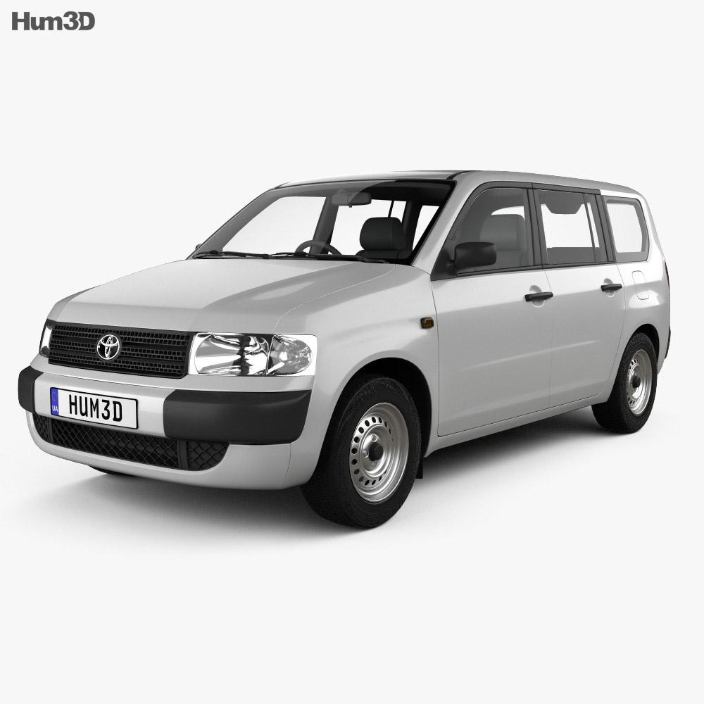 Toyota Probox Van 2002 3d model