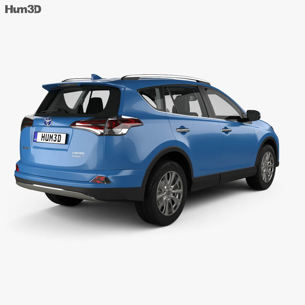 Toyota RAV4 Hybrid with HQ interior 2016 3d model