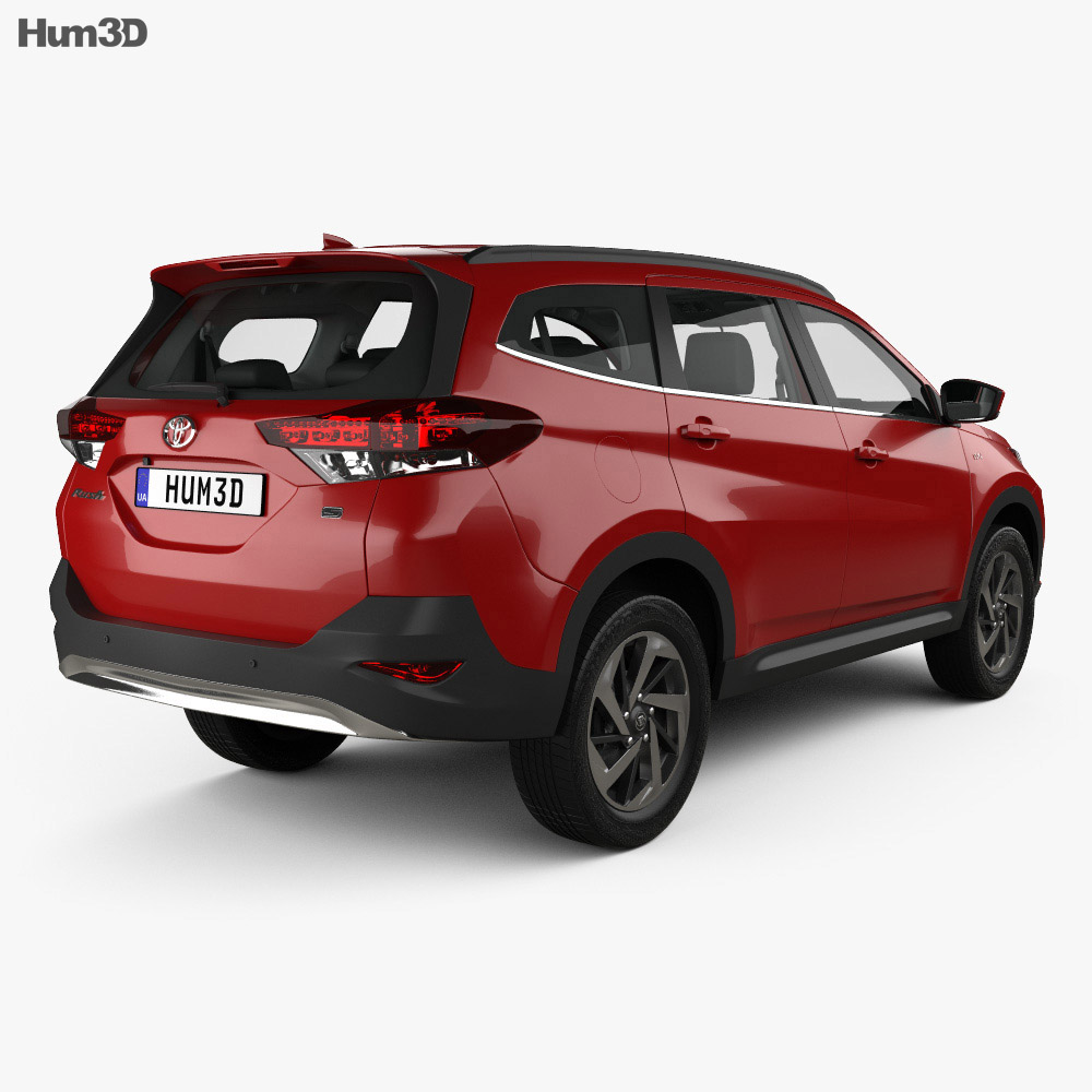 Toyota Rush S with HQ interior 2018 3d model