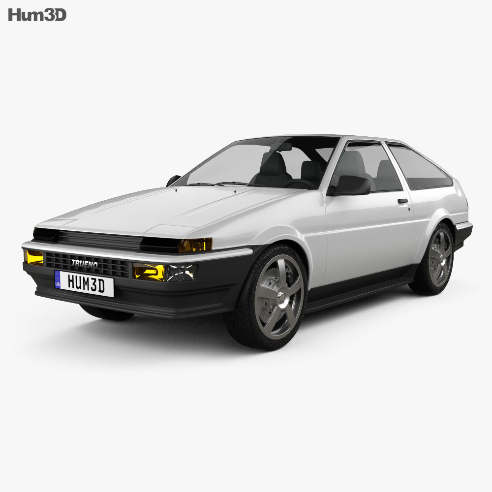 toyota sprinter trueno ae86 3 door 1985 3d model. Black Bedroom Furniture Sets. Home Design Ideas
