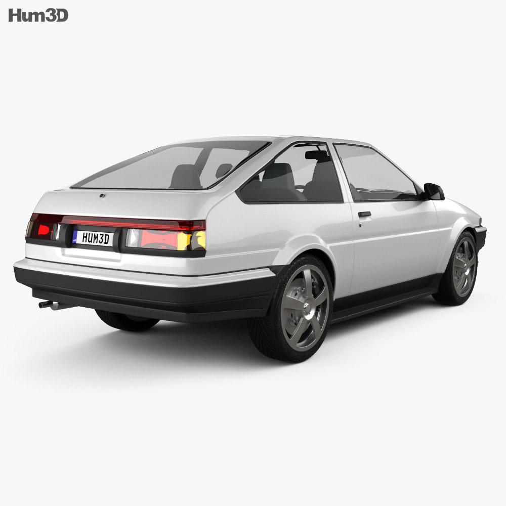 Toyota Sprinter Trueno AE86 3-door 1985 3d model