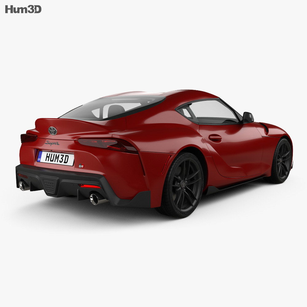 Toyota Supra US-spec 2019 3d model