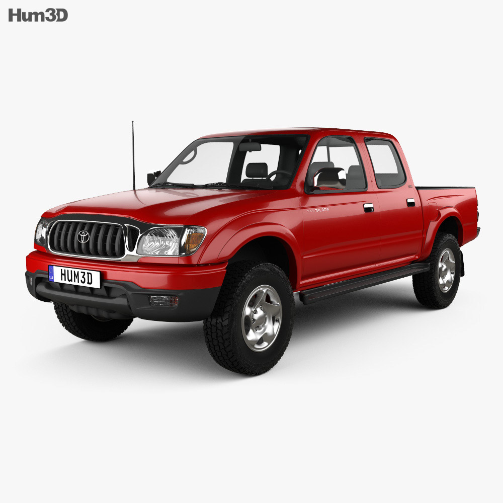 Toyota Tacoma Double Cab Limited 2001 3d model