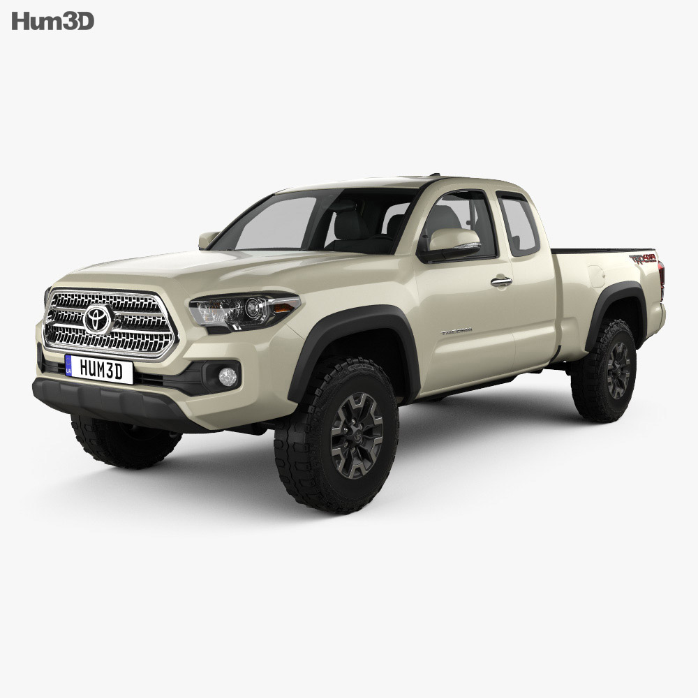 Toyota Tacoma Access Cab Long bed TRD Off-Road 2014 3d model