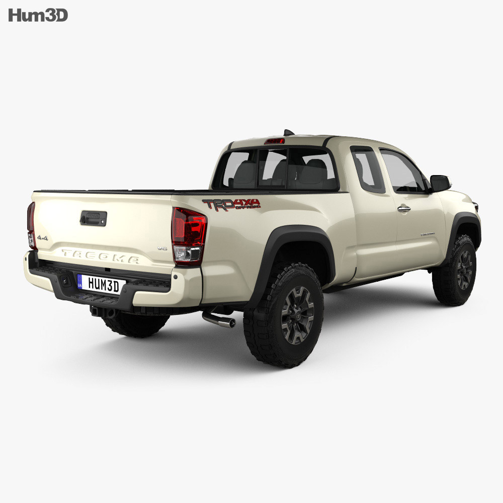 toyota tacoma access cab long bed trd off road 2014 3d model vehicles on hum3d. Black Bedroom Furniture Sets. Home Design Ideas