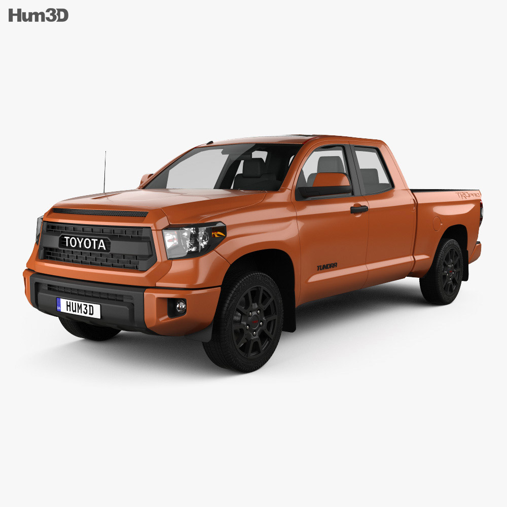 toyota tundra double cab trd pro 2014 3d model humster3d. Black Bedroom Furniture Sets. Home Design Ideas