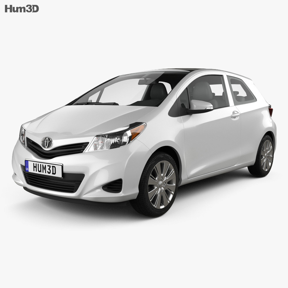 Toyota Yaris 3-door 2012 3d model