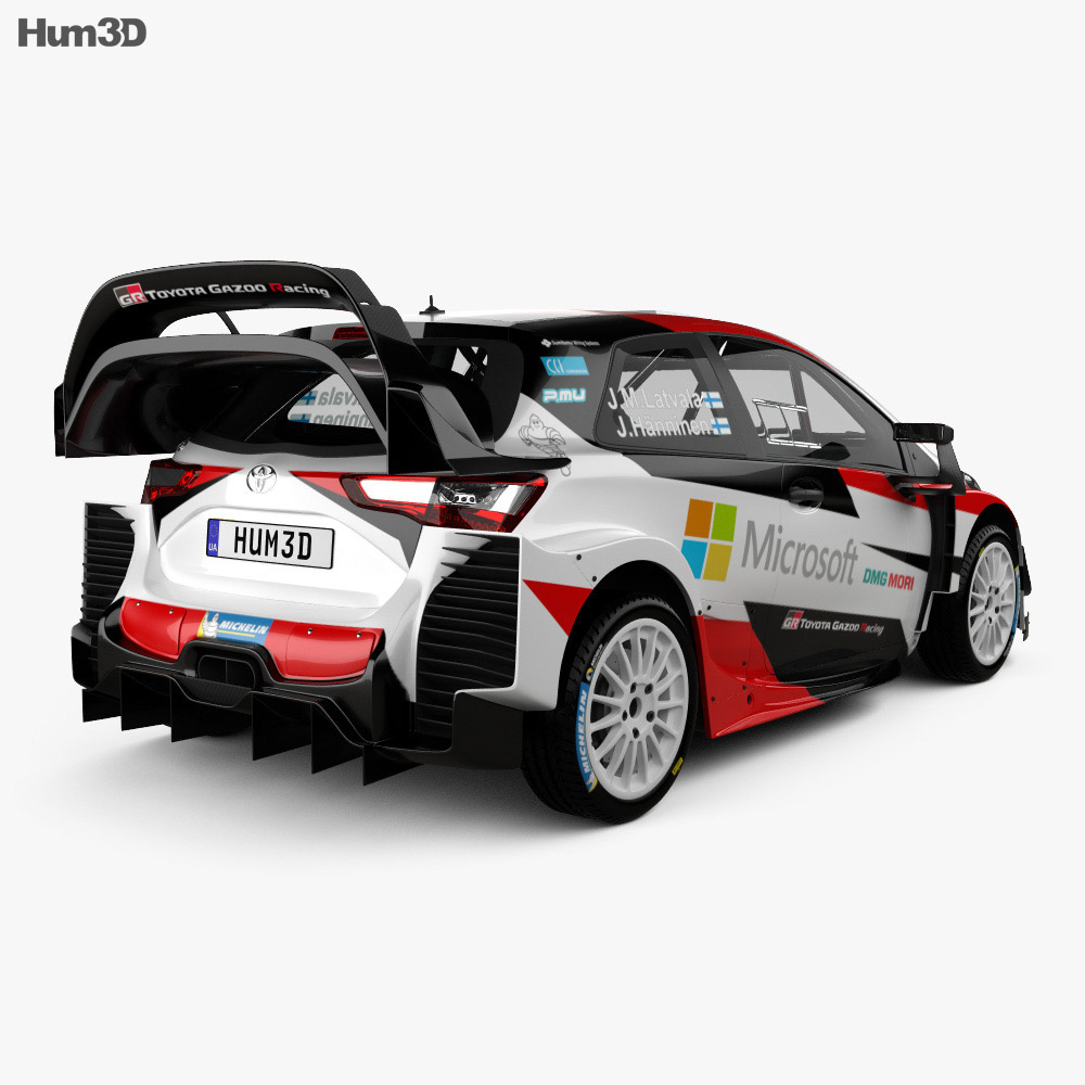 Yaris 2017 Review >> Toyota Yaris WRC 2017 3D model - Hum3D