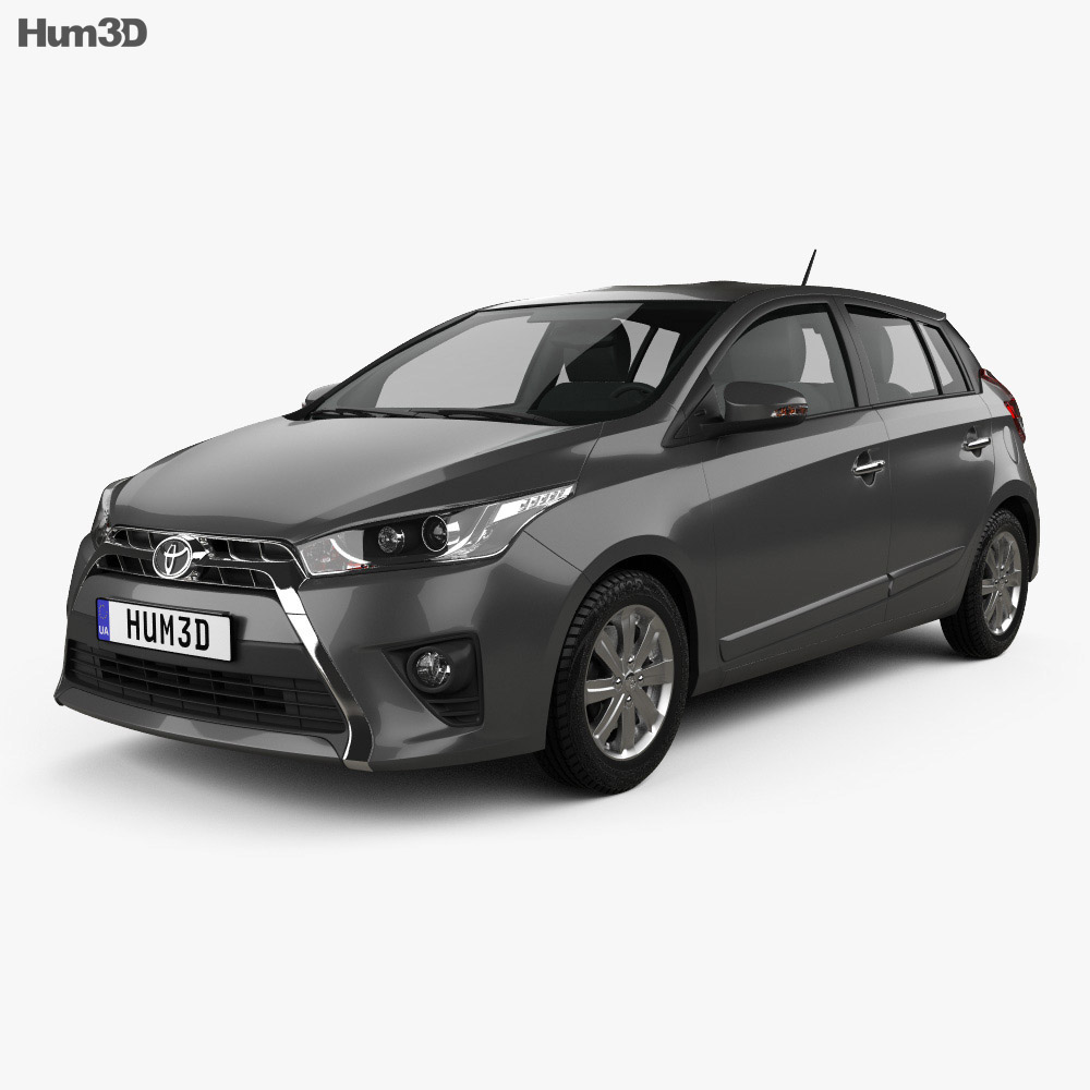 Toyota Yaris SE plus 2016 3d model