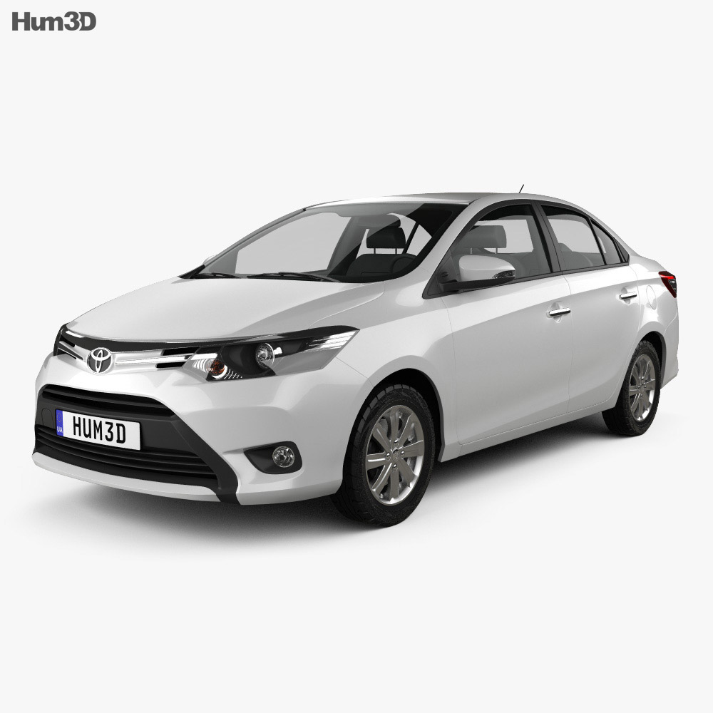 Toyota Yaris SE plus sedan 2014 3d model