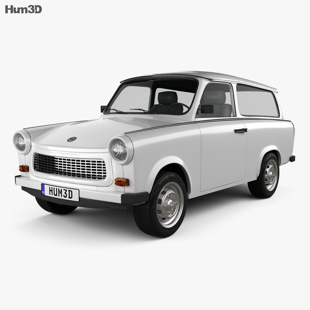 trabant 601 kombi 1965 3d model vehicles on hum3d. Black Bedroom Furniture Sets. Home Design Ideas