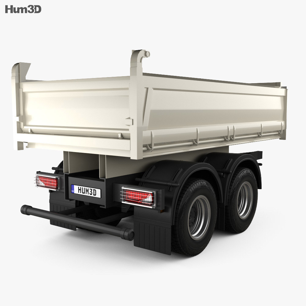 Meiller-Kipper D316 Tipper Centre-axle Trailer 2012 3d model