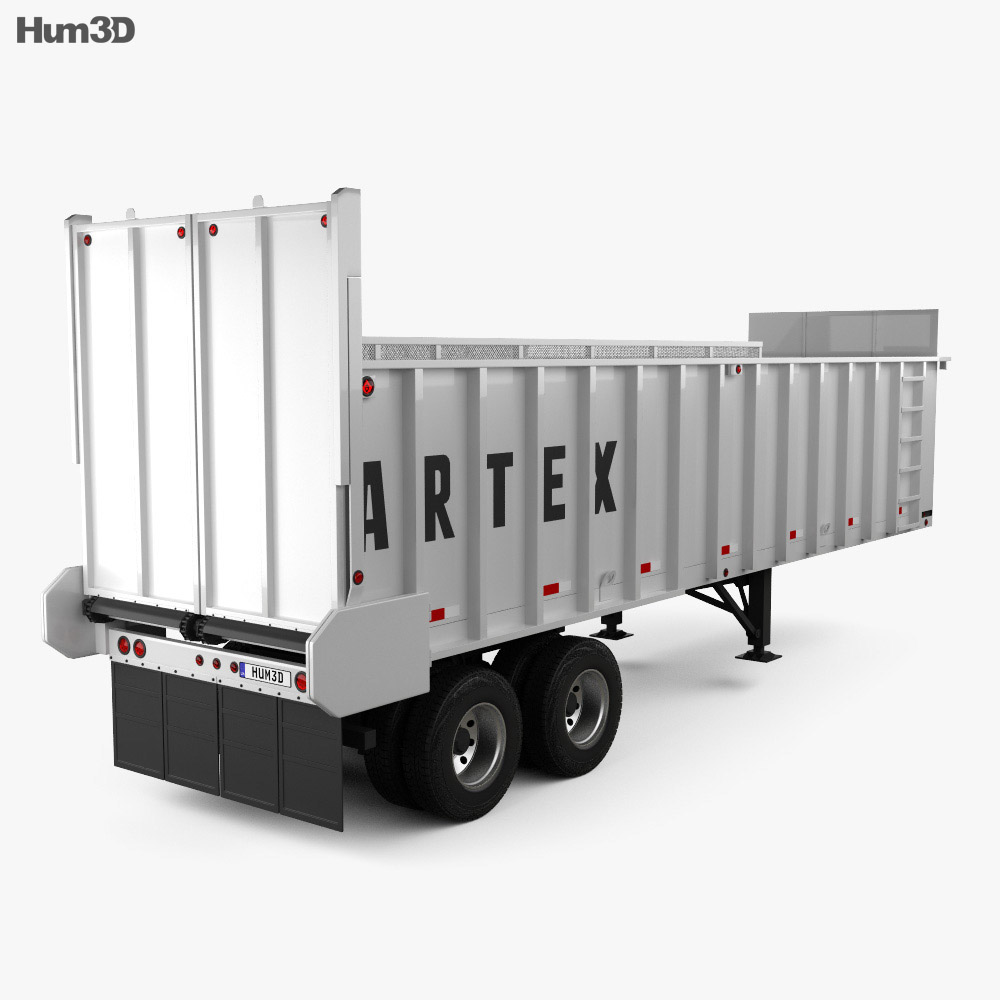 Artex TR3606-8 Silage Semi Trailer 2018 3d model