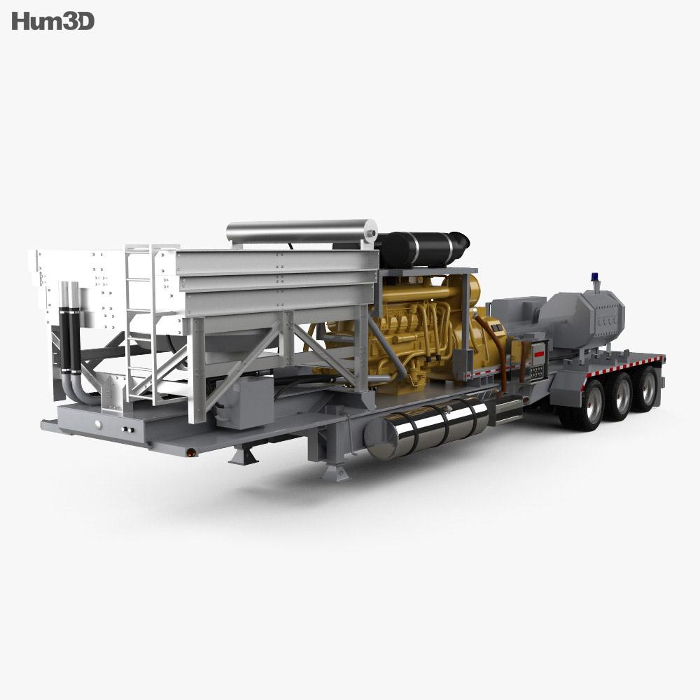 Caterpillar Fracturing Unit Semi-trailer 2018 3d model