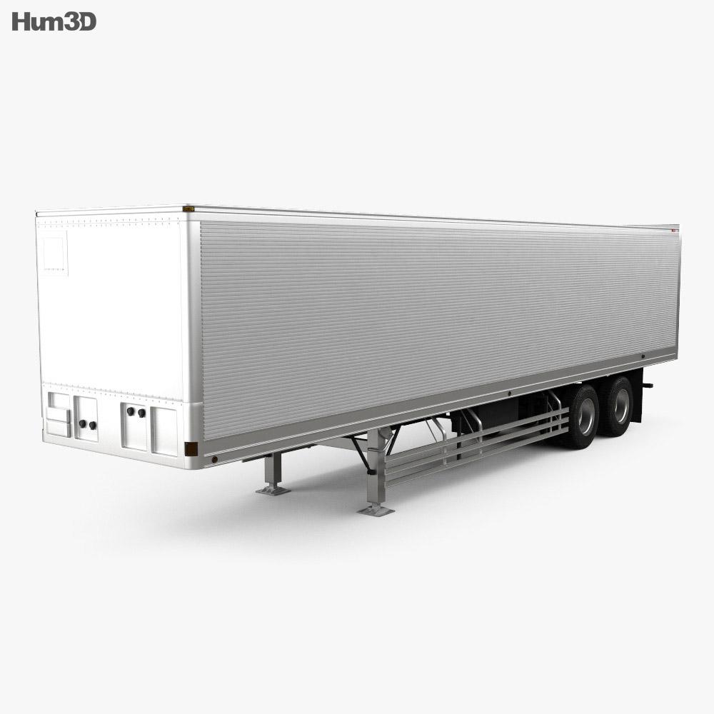 Fruehauf FVA241C Dry Van Semi Trailer 2017 3d model