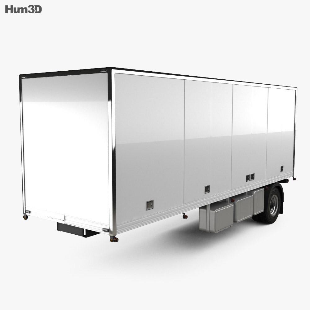 Generic Dry Van Semi Trailer 2011 3d model