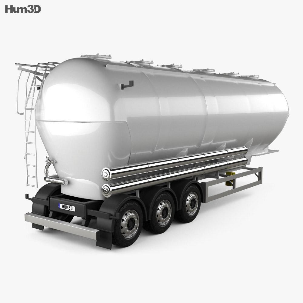 Scania Tanker Semi Trailer 2017 3d model