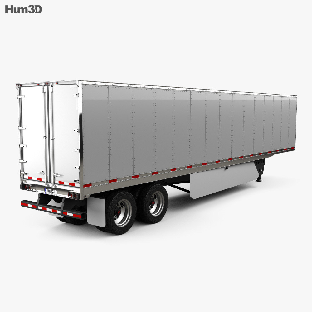 Utility 4000D-X Composite Wall Semi Trailer 2014 3d model