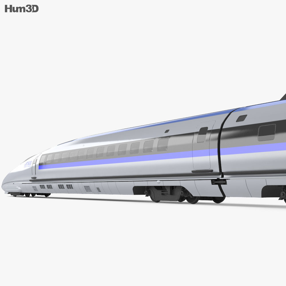 500 Series Shinkansen 3d model