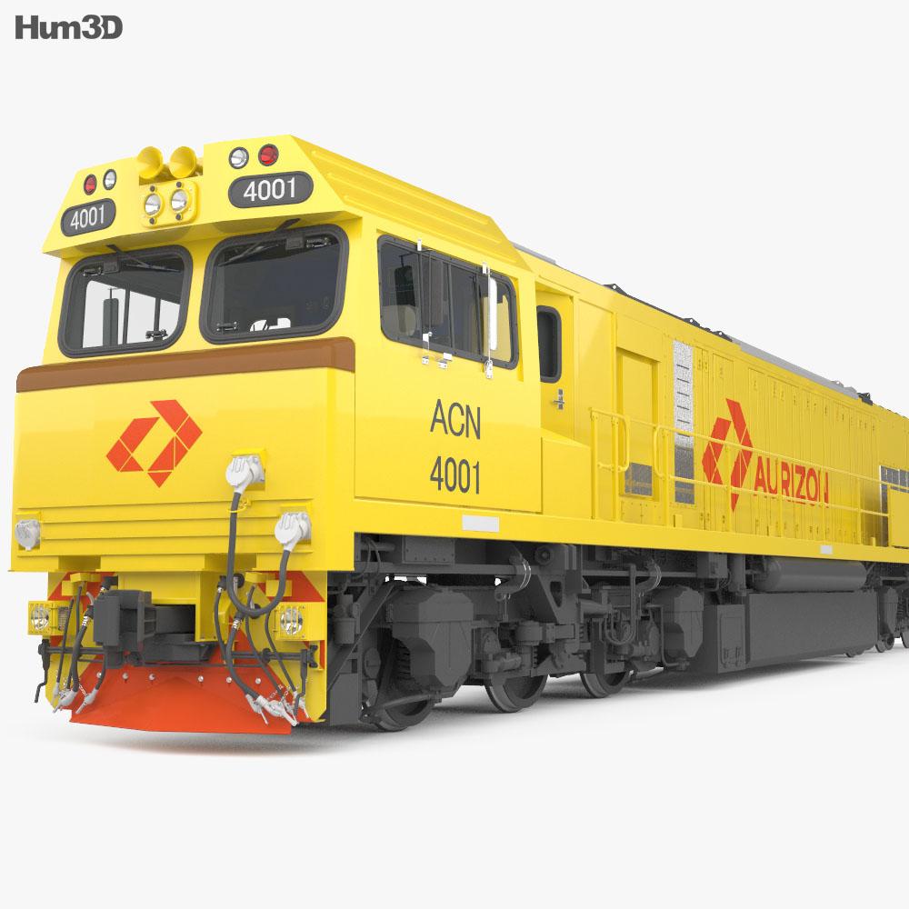 3D model of Aurizon 4000-class Locomotive with HQ interior