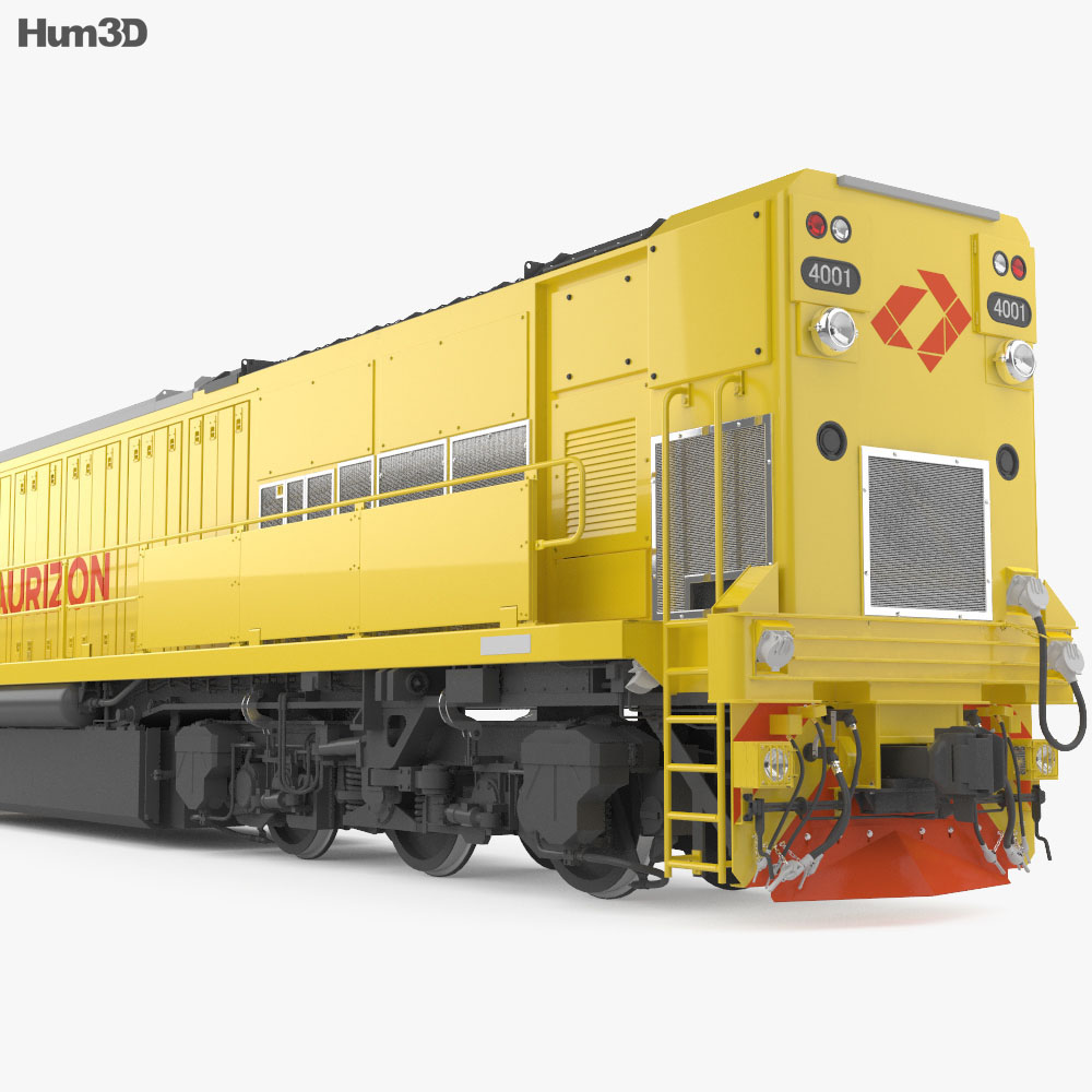 Aurizon 4000-class Locomotive with HQ interior 3d model
