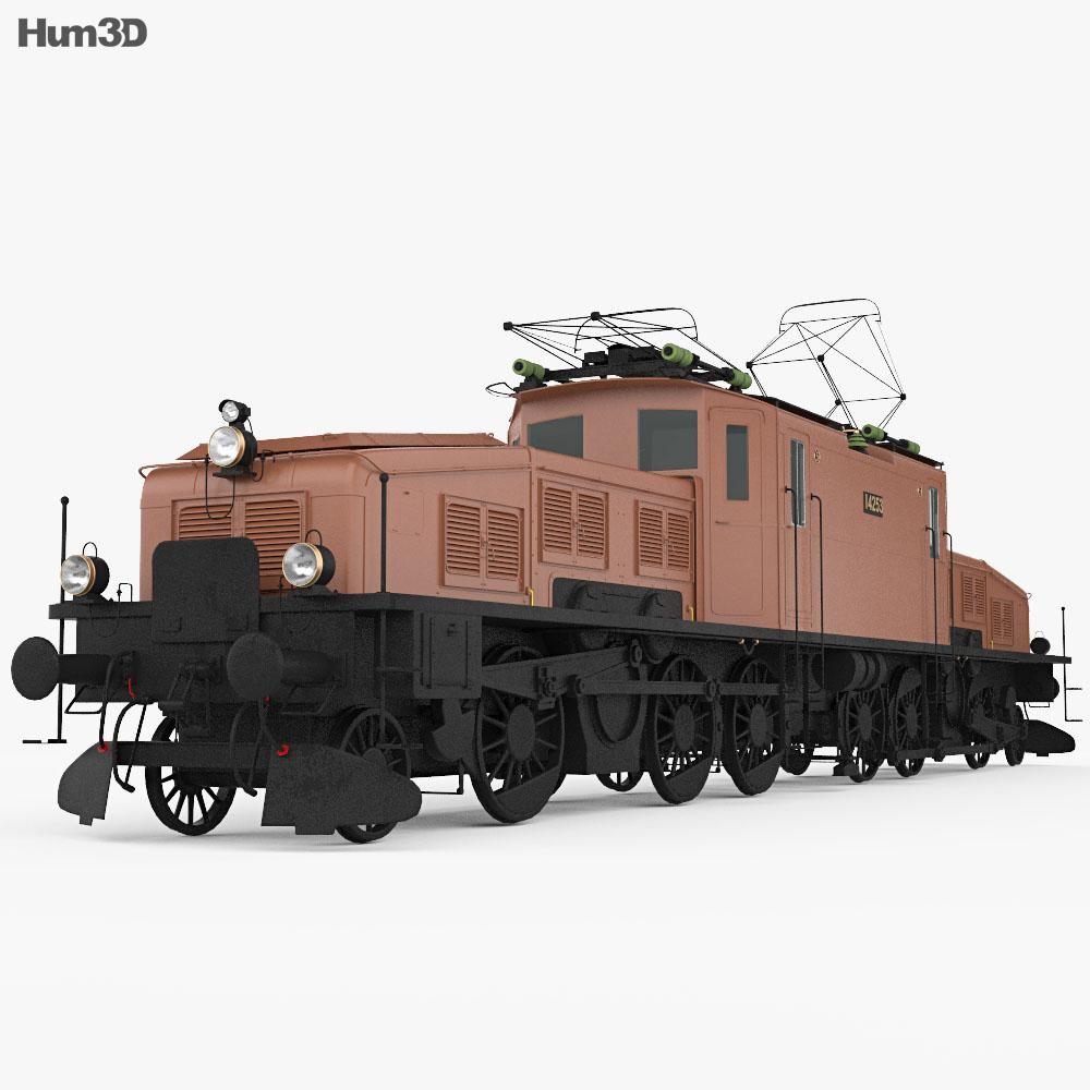 SBB Ce 6/8 San Gottardo 1920 Locomotive 3d model
