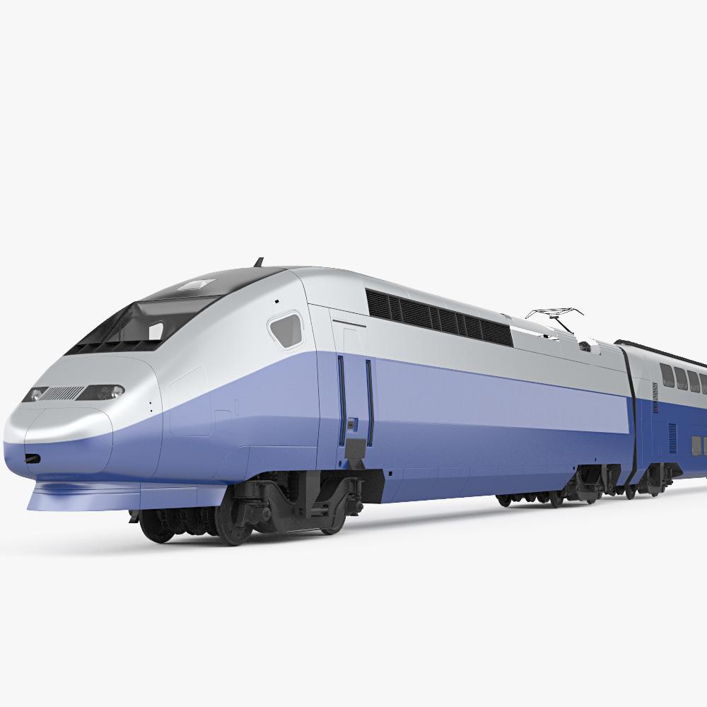 SNCF TGV 2N2 Euroduplex 3d model