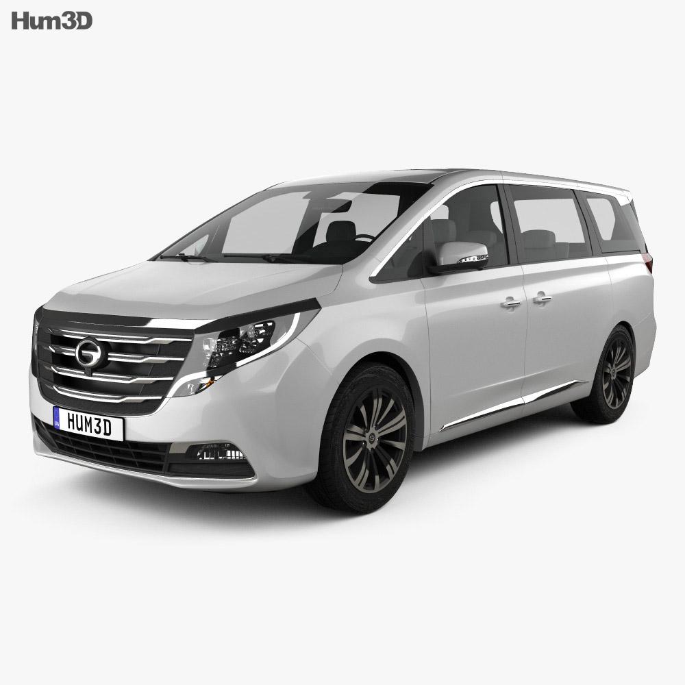 Trumpchi GM8 2018 3d model