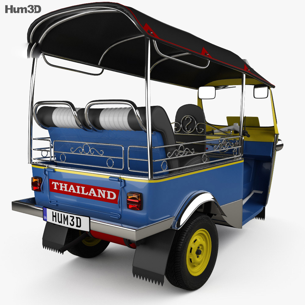 Tuk-Tuk Thailand 1980 3d model