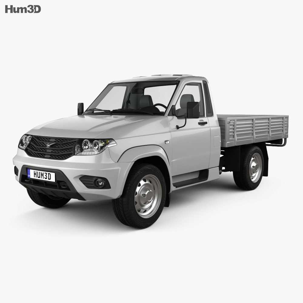 UAZ Patriot Cargo with HQ interior 2014 3d model