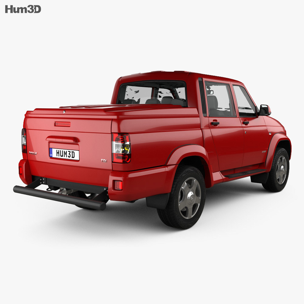 UAZ Patriot (23632) Pickup with HQ interior 2014 3d model