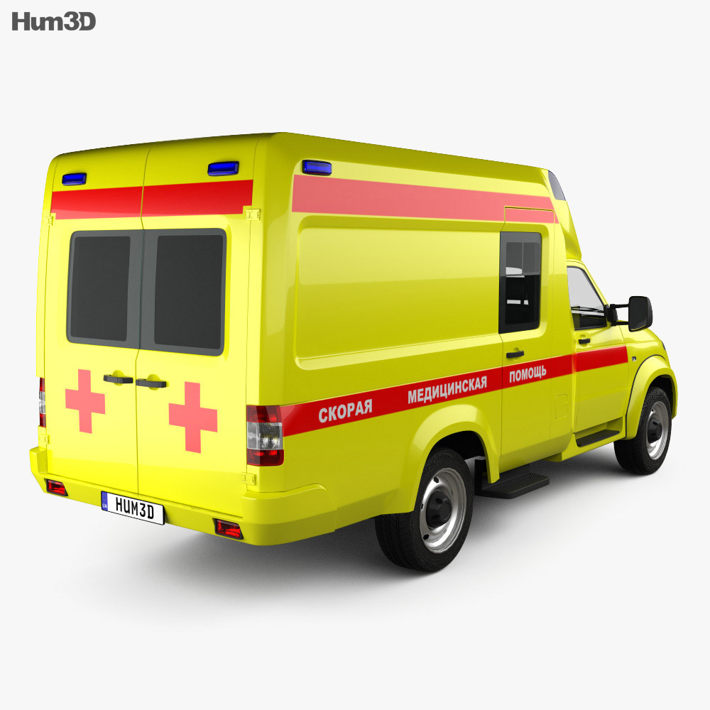 UAZ Profi Ambulance 2017 3d model