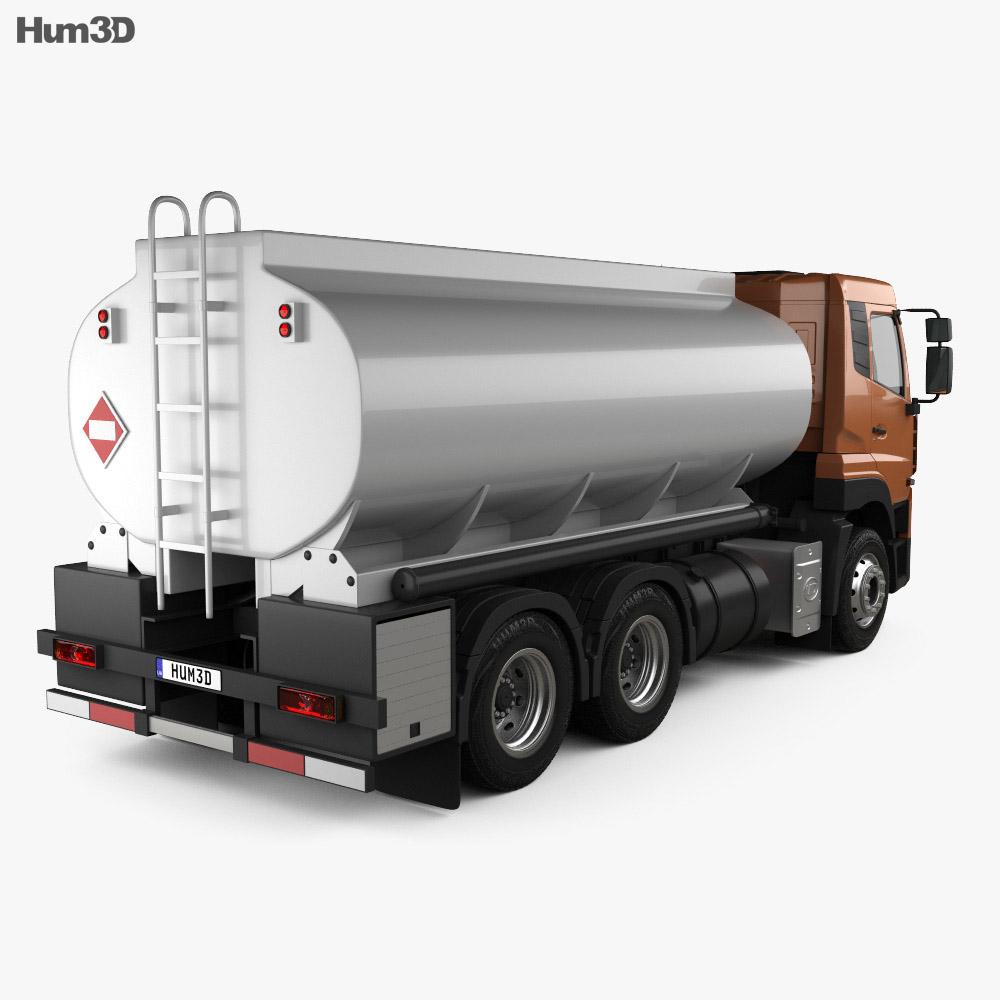 UD Trucks Quester Tanker Truck 2013 3d model back view