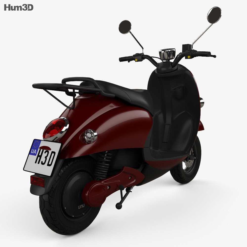 Unu Scooter 2015 3d model