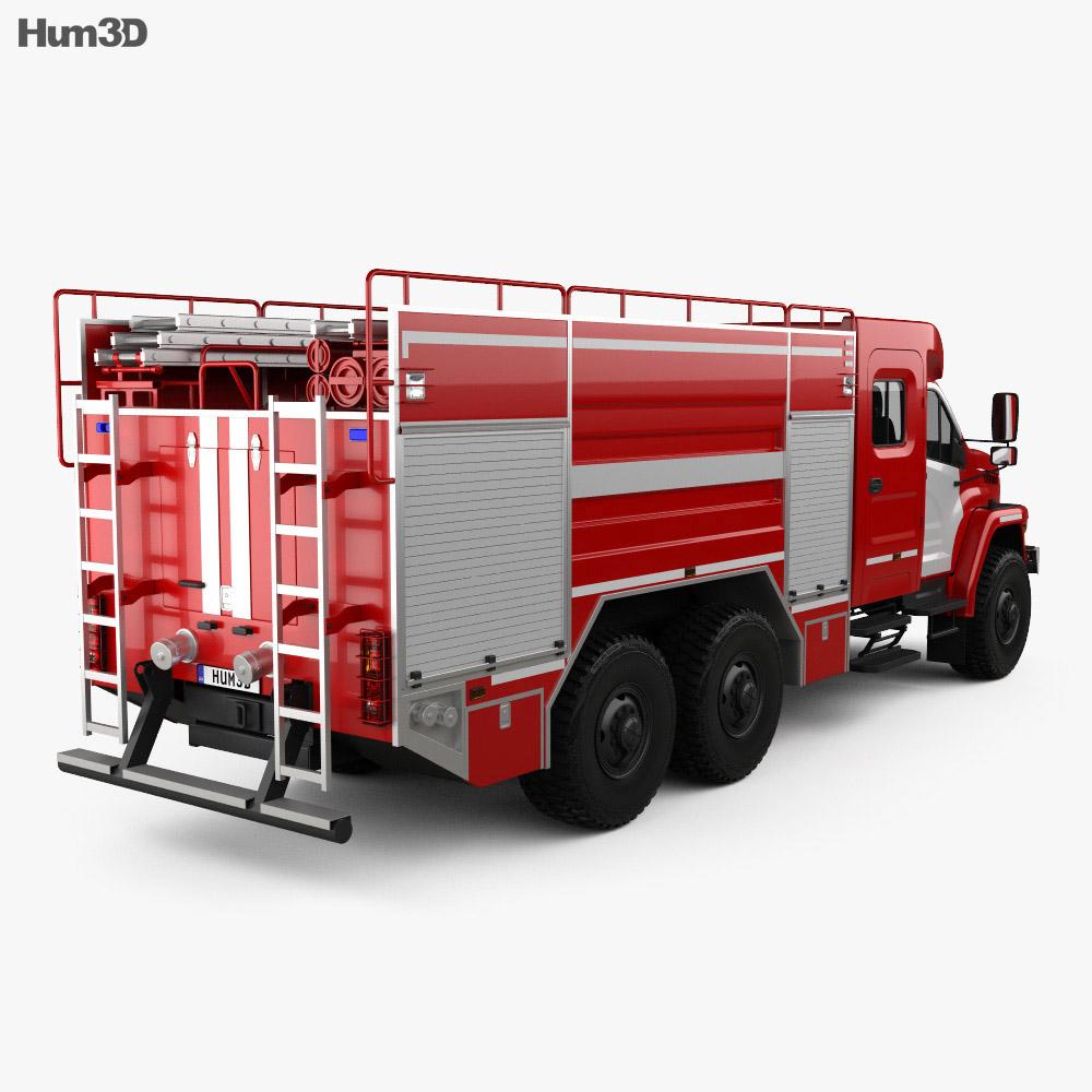 Ural Next Fire Truck AC-60-70 2018 3d model