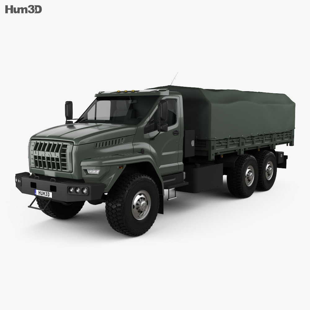 Ural Next Flatbed Canopy Truck 2016 3d model