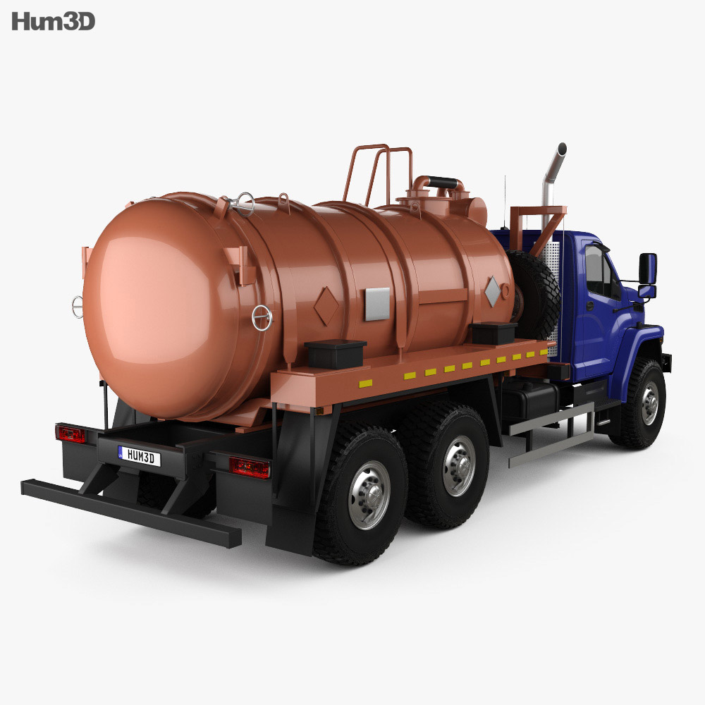 Ural Next Tanker Truck 2015 3d model