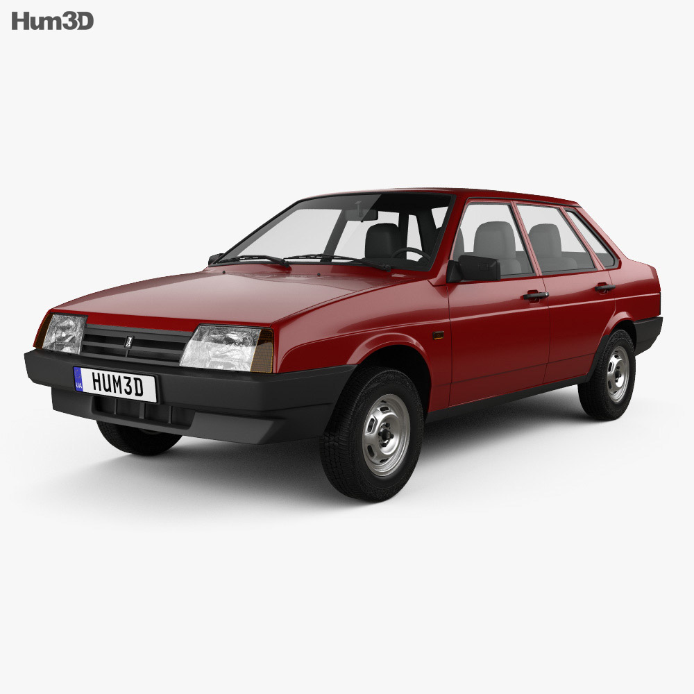 VAZ Lada 21099 1990 3d model