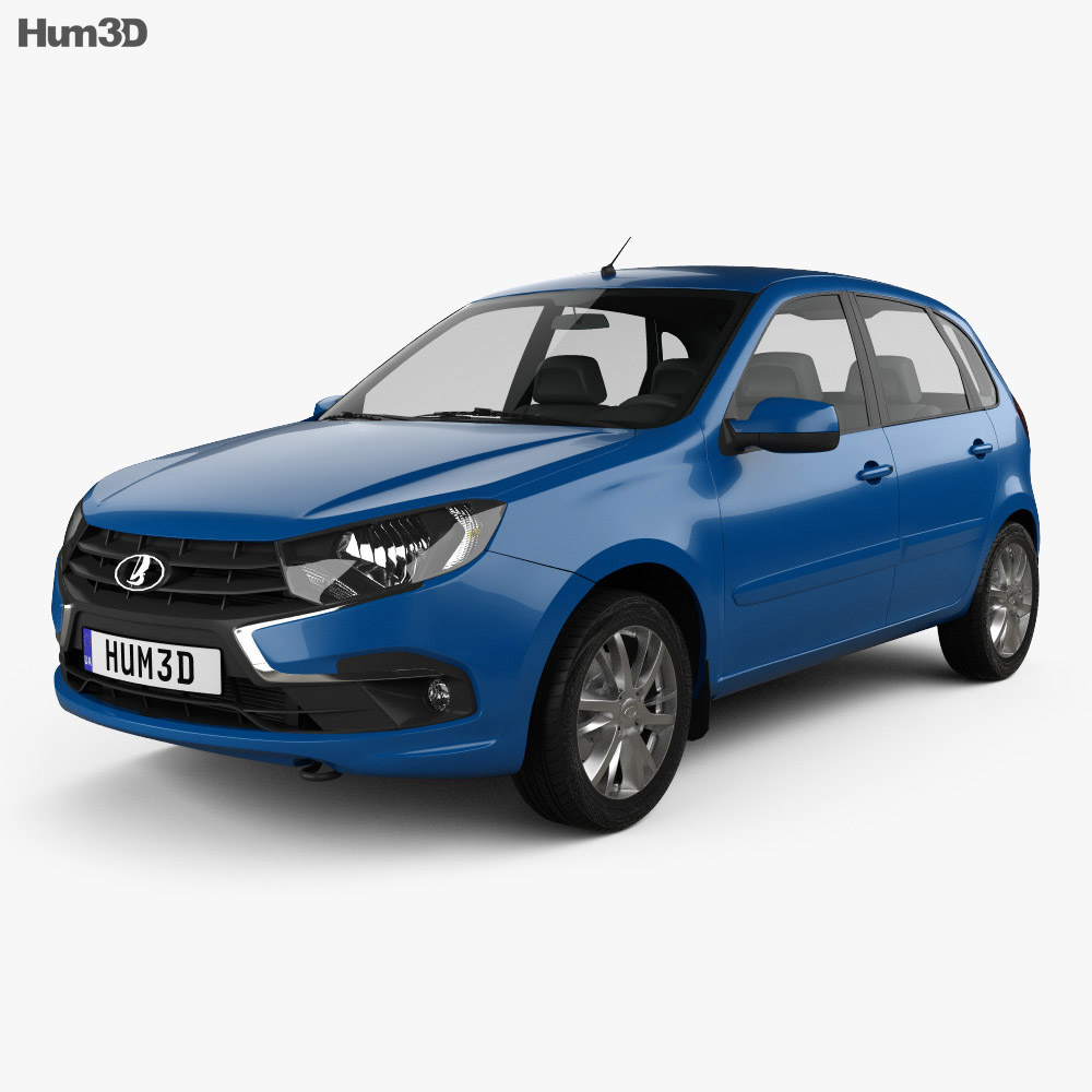 VAZ Lada Granta hatchback 2018 3d model