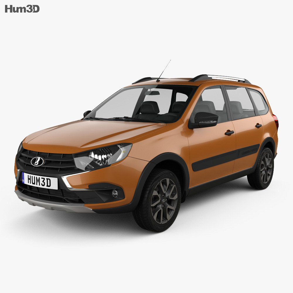 VAZ Lada Granta Cross 2019 3d model