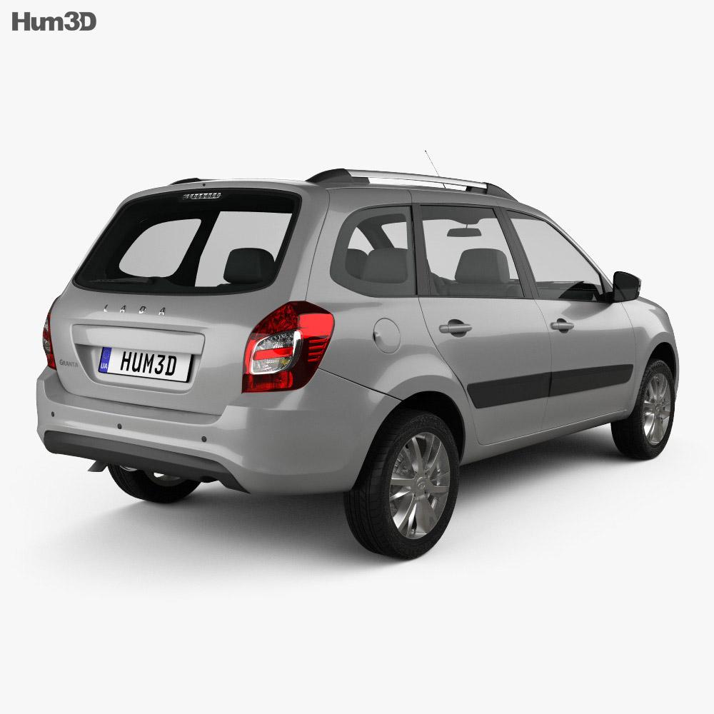 VAZ Lada Granta wagon 2018 3d model